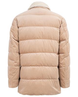 Doudoune en velours côtelé avec col en peau lainée BRUNELLO CUCINELLI