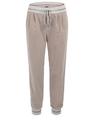 Pantalon de jogging en velours côtelé et lurex LORENA ANTONIAZZI