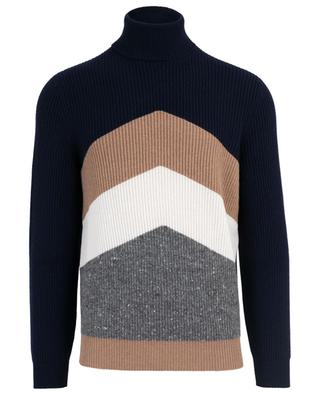 Turtle neck virgin wool, cashmere and silk jumper BRUNELLO CUCINELLI