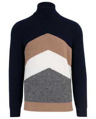Turtle neck virgin wool, cashmere and silk jumper BRUNELLO CUCINELLI