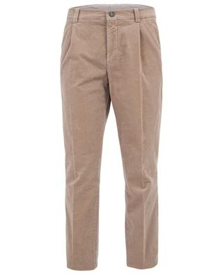 Pantalon droit en velours côtelé BRUNELLO CUCINELLI