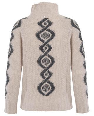 Jacquard-Pullover aus Wolle und Kaschmir LORENA ANTONIAZZI