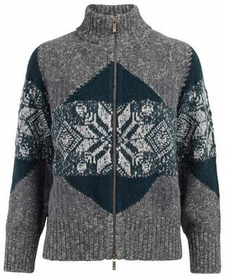 Cardigan en laine vierge, coton et cachemire mélangés LORENA ANTONIAZZI