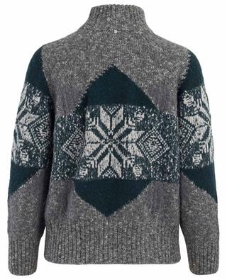 Virgin wool, cotton and cashmere blend cardigan LORENA ANTONIAZZI