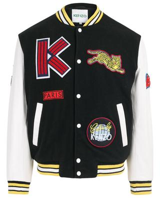 Varsity wool and leather jacket KENZO