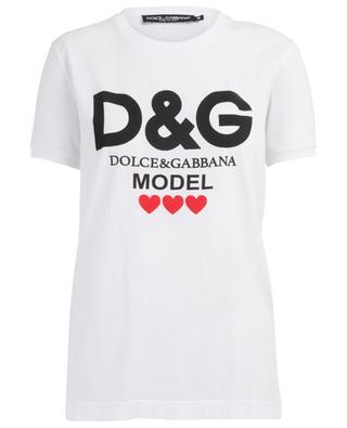 T-shirt en coton D&G Model DOLCE & GABBANA