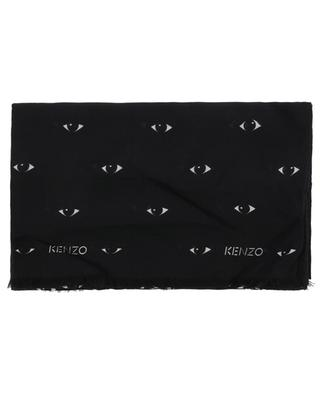 Eyes All Over modal and silk shawl KENZO