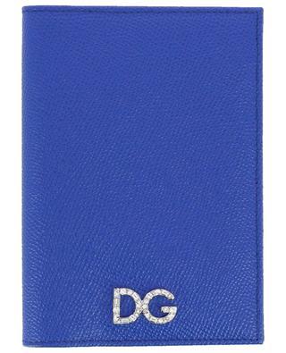 Porte-cartes en cuir texturé Dauphine DG Strass DOLCE & GABBANA