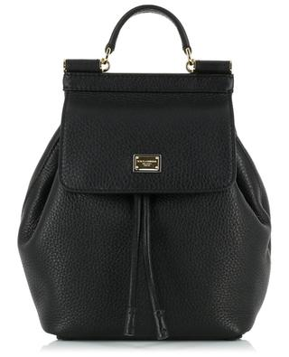 Sicily small textured leather backpack DOLCE & GABBANA