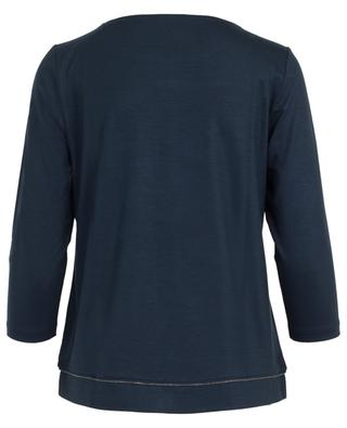 Embroidered viscose blend top FRATELLI M