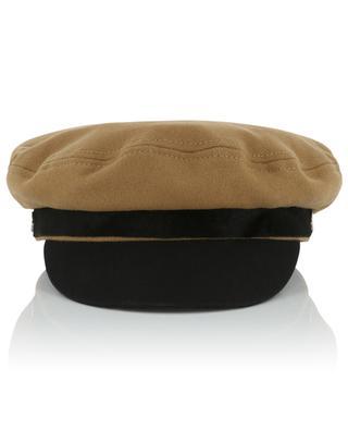 Casquette en laine et cuir de poulain RAG&BONE JEANS