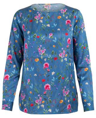 Bluse aus Seidenmix mit Blumenprint CAMICETTASNOB