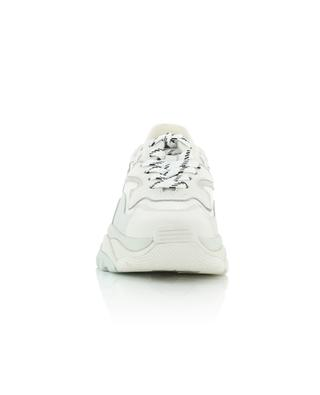 Addict leather and fabric wedge sneakers ASH