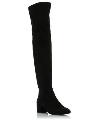 Stiefel aus Kunstwildleder und Leder Diva ASH