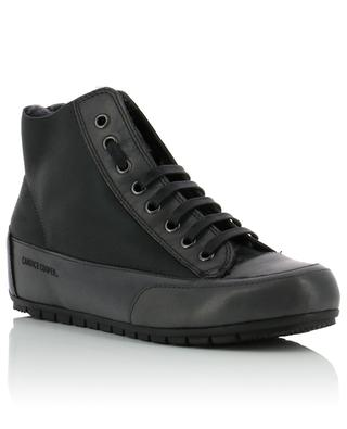 Gefütterte hohe Sneakers aus Leder CANDICE COOPER