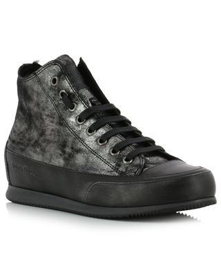 Hohe Sneakers aus metallisiertem Leder CANDICE COOPER
