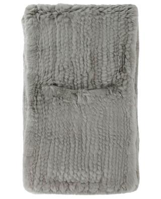 Rabbit fur scarf with hand warmers YVES SALOMON