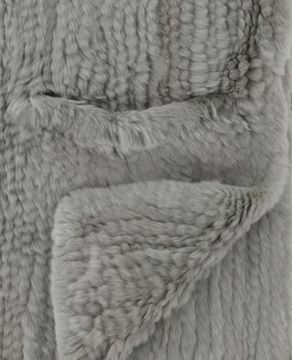 Écharpe en lapin dotée de chauffe-mains YVES SALOMON
