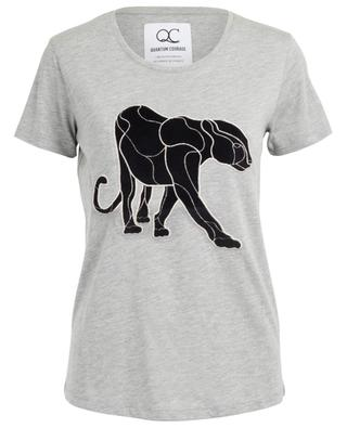Panther cotton and modal T-shirt QUANTUM COURAGE