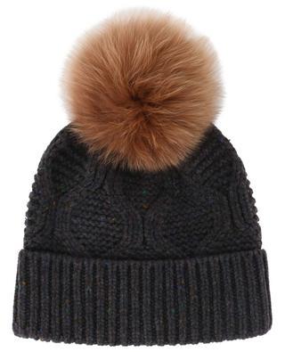 Mütze aus Wolle und Pelz YVES SALOMON