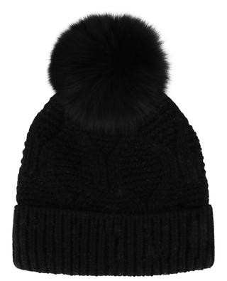 Wool and fur beanie YVES SALOMON