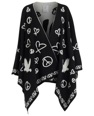 Love Squad wool and cashmere poncho QUANTUM COURAGE