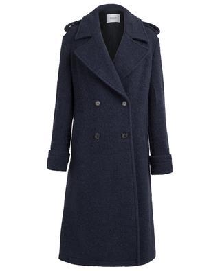 Long manteau en laine vierge, mohair et alpaga DONDUP