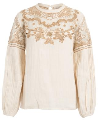 Meridienne embroidered cotton blouse MES DEMOISELLES