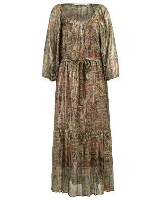 Paturage long silk blend dress MES DEMOISELLES