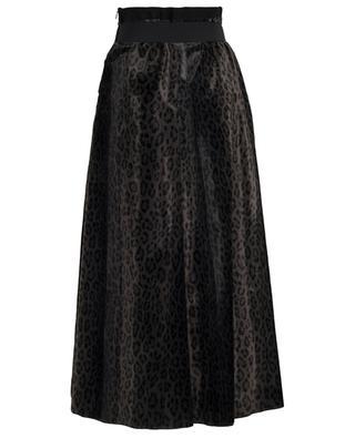 Leopard Deluxe long velvet skirt SCHUMACHER