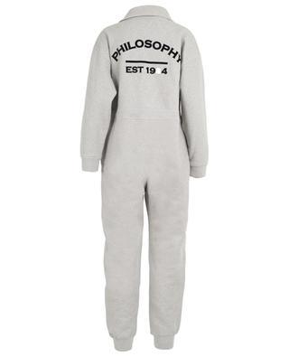 Fleece-lined cotton jumpsuit PHILOSOPHY