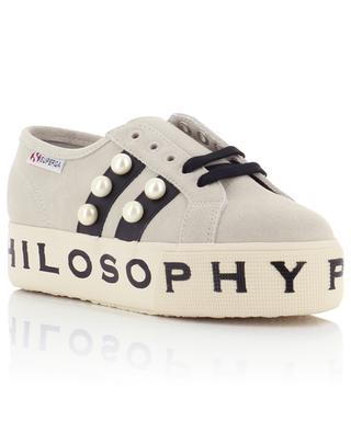 Suede and canvas sneakers PHILOSOPHY