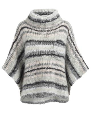 Mohair and wool poncho BRUNELLO CUCINELLI