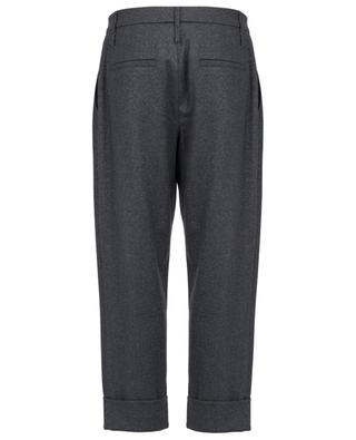 Cropped virgin wool blend trousers BRUNELLO CUCINELLI