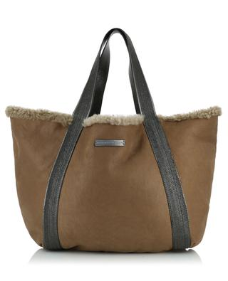 Reversible shearling tote bag BRUNELLO CUCINELLI
