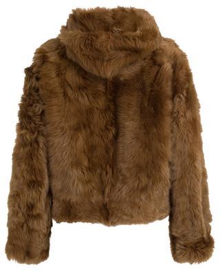 Wendbare Jacke aus Leder und Pelz BRUNELLO CUCINELLI