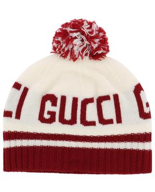 Wool jacquard beanie GUCCI