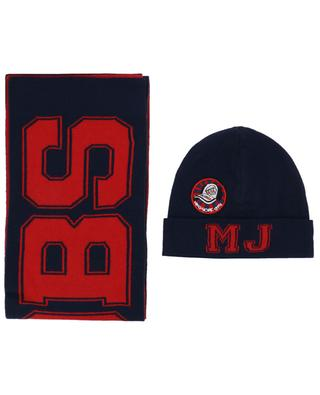 Cotton and wool beanie and scarf LITTLE MARC JACOBS