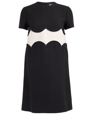 Kurzes Kleid aus Schurwolle und Seide VALENTINO