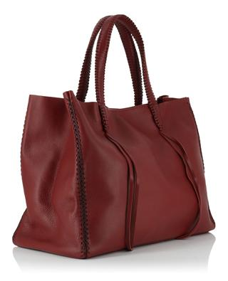 Scarlet Merlot Tote leather tote bag CALLISTA