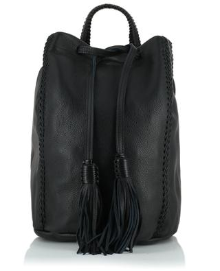 Sac à dos en cuir Sable Noir Backpack CALLISTA