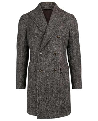 Mantel aus Wolle, Mohair und Seide Lang BARBA