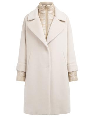 Virgin wool, angora and silk blend coat HERNO