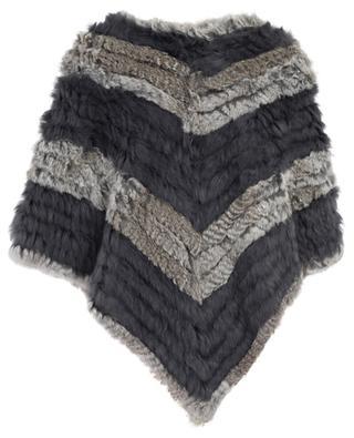 Fur embellished wool blend poncho BONGENIE GRIEDER