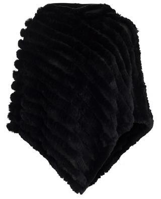 Rabbit fur embellished poncho BONGENIE GRIEDER