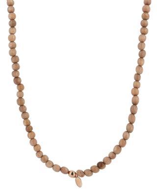 Halskette aus Sandelholz und Halbedelsteinen Ama 1 RITA & ZIA