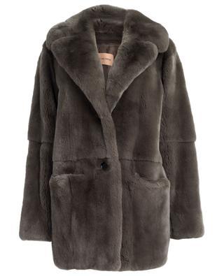 Manteau en fourrure de lapin YVES SALOMON