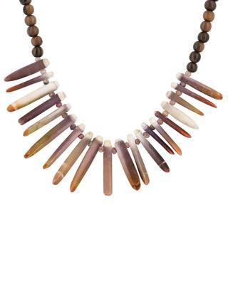 Halskette aus Ebenholz, rosa Opal und Muscheln Halona 1 RITA & ZIA
