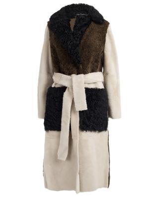 Reversible lamb shearling coat YVES SALOMON