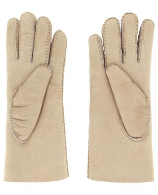 Curly lamb gloves leather AGNELLE